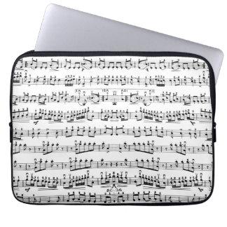 Laptop sleeve för mönster för modmusikermusik note datorskydd