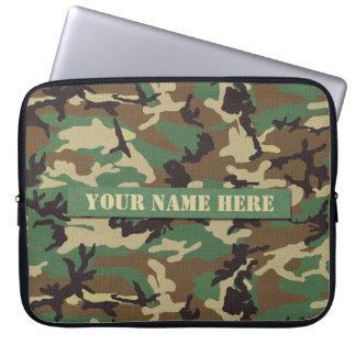 Laptop sleeve för personligskogsmarkkamouflage