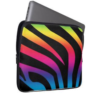 Laptop sleeve för sebraregnbågeNeoprene