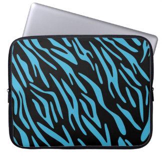 Laptop sleeve för svart- och turkossebrarand laptop datorfodral