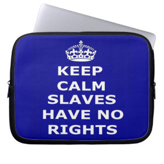 Laptop sleevebehållalugn Slaves har ingen rättighe Laptop Fodral