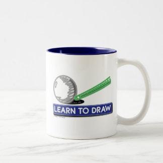 Lär att dra Två-Tonad mugg