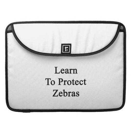 Lär att skydda zebror MacBook pro sleeve