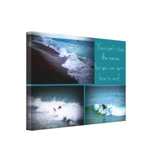 Lär att surfa att hänga för vägg canvastryck