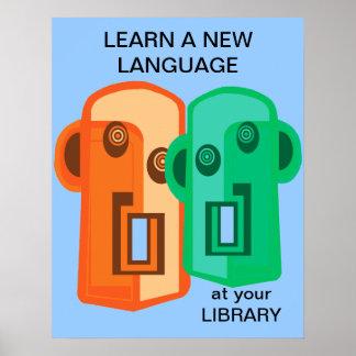 Lär ett nytt språk poster