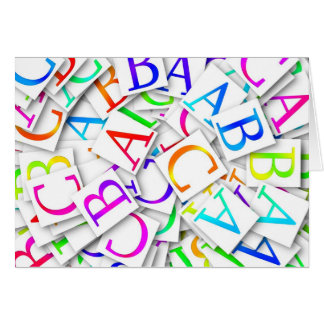 Lära din ABCs Hälsningskort