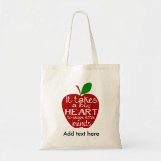 Lärare Apple tackar dig hänger lös Budget Tygkasse