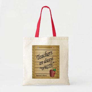 Lärare är skrivan hänger lös alltid budget tygkasse