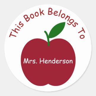Lärare bokägarmärke för Apple personlig Runt Klistermärke