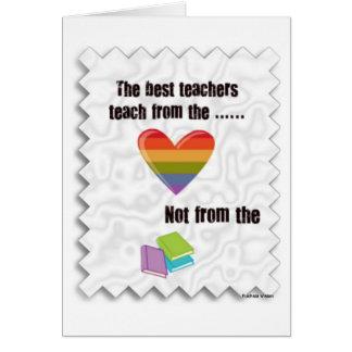 Lärare dagkort hälsningskort