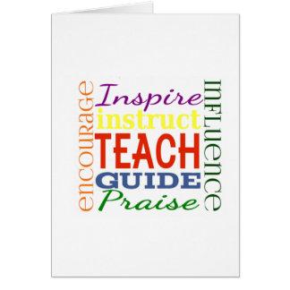 Lärare för lärareordbild skolar ungar hälsningskort