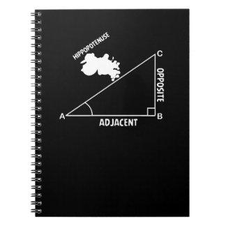 Lärare för Math för Trig för Hippotenuse Anteckningsbok Med Spiral