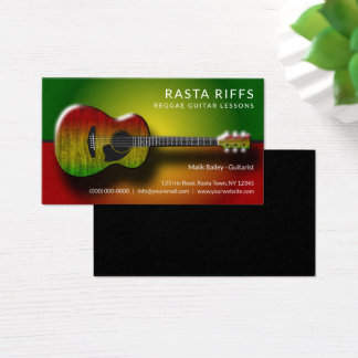 Lärare för musik för kurser för gitarr för visitkort