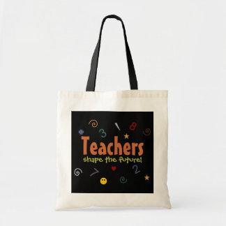 Lärare formar den framtida totot hänger lös tygkasse