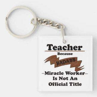 Lärare Fyrkantigt Dubbelsidigt Nyckelring I Akryl