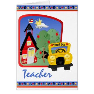 Lärare Hälsningskort
