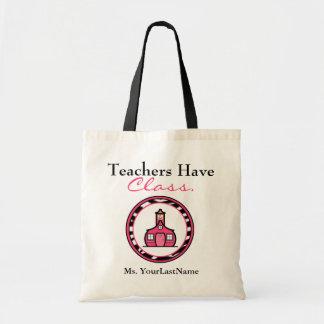 Lärare hänger lös budget tygkasse
