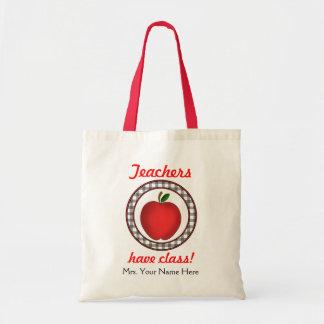 Lärare har att klassificera Apple hänger lös Tote Bags