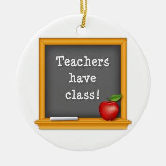Lärare har att klassificera! julgransprydnad keramik
