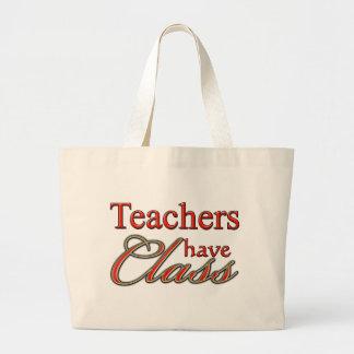 Lärare har Klassificera-Orangen Tote Bags