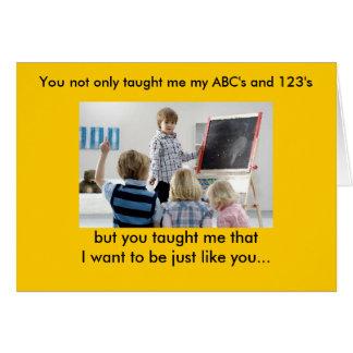 Lärare kort för daghälsning 4