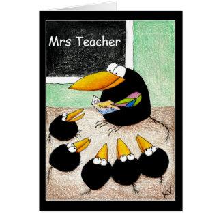 Lärare- och studenttackkortkort hälsningskort