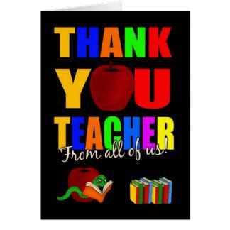 lärare tackar dig hälsningkortet från allihop hälsningskort