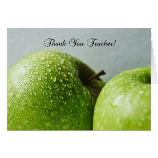 lärare tackar dig hälsningkortet hälsningskort