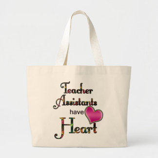 Lärareassistenter har hjärta jumbo tygkasse