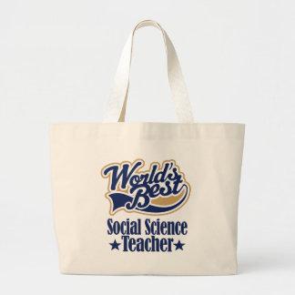 Läraregåva för social vetenskap för (bäst världar) tote bag