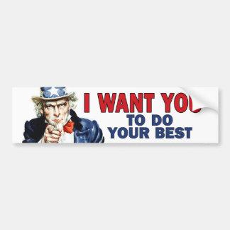 Läraregåva - något att säga för Uncle Sam GÖR DITT Bildekal