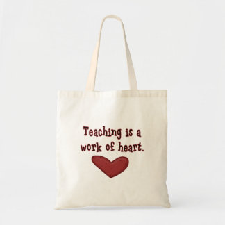 Läraregillandehjärta hänger lös budget tygkasse