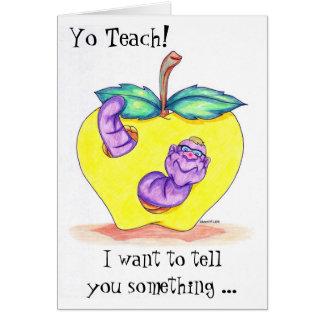 Läraregillandekort med Apple och masken Hälsningskort