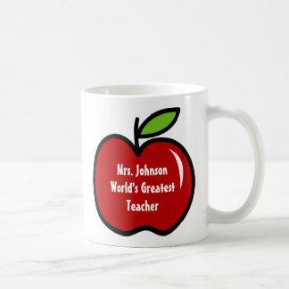Läraremugg med röd design för äpple | kaffemugg