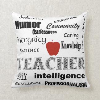 Lärarepridetext Design-Röda Apple Prydnadskudde