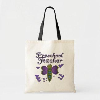 LärareTshirts och gåvor för fjäril förskole- Budget Tygkasse