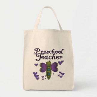 LärareTshirts och gåvor för fjäril förskole- Mat Tygkasse