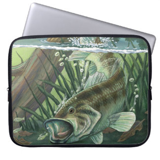 Largemouth bas- fiske laptop fodral