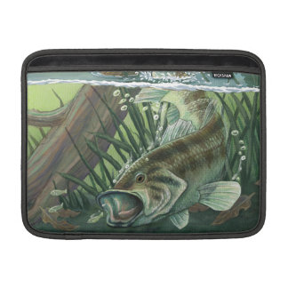 Largemouth bas- fiske sleeve för MacBook air