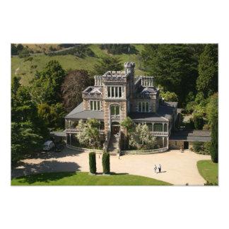 Larnach slott, Dunedin som är nyazeeländsk - anten Fototryck