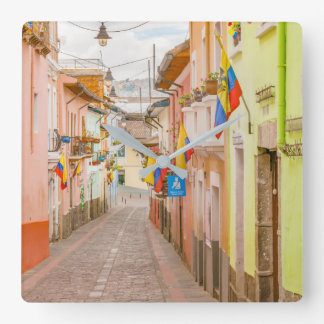 LaRonda gata Quito Ecuador Fyrkantig Klocka