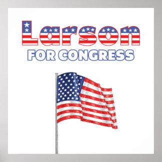 Larson för patriotisk amerikanska flaggandesign fö affisch