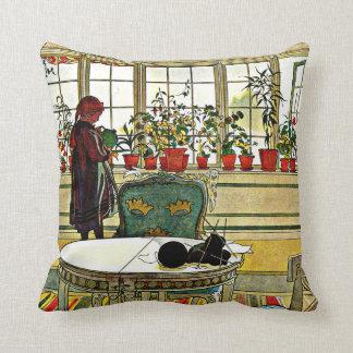 Larsson - blommor på fönsterbrädan prydnadskuddar