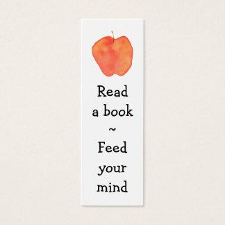 Läs- Apple mini- bokmärke - Litet Visitkort