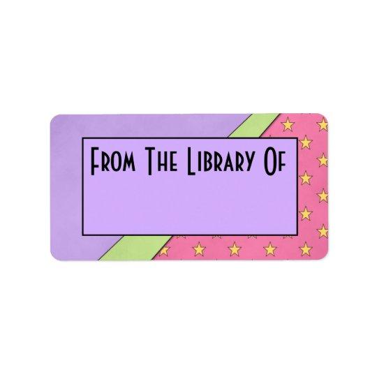 Läs- bibliotek för modstil av bokägarmärkegåvan adressetikett