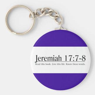 Läs den bibelJeremiah 17:7 - 8 Rund Nyckelring