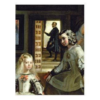 Las Meninas eller familjen av den Philip droppen, Vykort