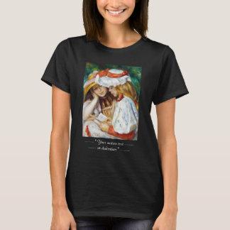Läs- Pierre Auguste Renoir för två flickor målning Tröjor