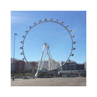 Las Vegas #2 för kickrullpariserhjul kanfas Canvastryck