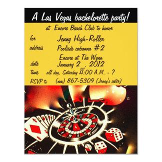 Las Vegas Bachelorette partyinbjudan 10,8 X 14 Cm Inbjudningskort